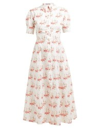 Emilia Wickstead Sienna Sailboat Print Shirtdress Pink Print