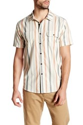 Billabong Hendrix Striped Short Sleeve Core Fit Shirt Gray