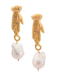Alighieri 18Kt Yellow Gold The Curator Of The Moon Earrings 60