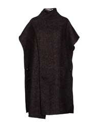 Silvian Heach Capes And Ponchos Maroon