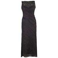 Chesca Metallic Tipped Fancy Jersey Dress With Jacket Black