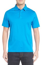 Bugatchi Men's Jersey Polo Classic Blue