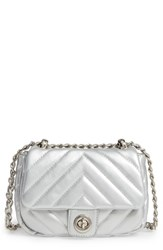 Bp. Quilted Faux Leather Crossbody Bag Grey Silver