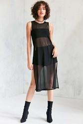 Silence And Noise Mesh Maxi Tank Top Black