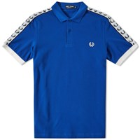 Fred Perry Taped Polo Blue