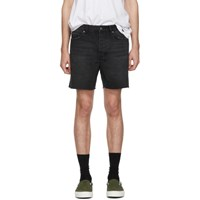 Ksubi Black Denim Dagger Dan Shorts