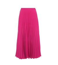 Co Crepe Pleated Skirt Pink
