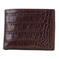 Moore And Giles Alligator Leather Bi Fold Wallet Tan