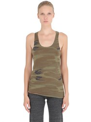 Alternative Apparel Printed Cotton Blend Jersey Tank Top