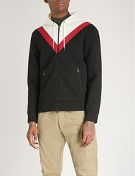 Ralph Lauren Purple Label Striped Neoprene Hoody Black