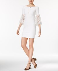 Bar Iii Lace Sleeve Sheath Dress Only At Macy's Washed White