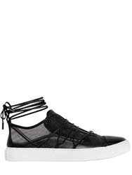 Dsquared 10Mm Riri Leather And Mesh Sneakers