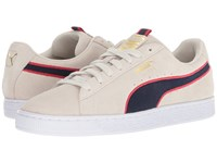 Puma Suede Classic Sport Stripes Vaporous Gray Ribbon Red Peacoat Shoes Beige