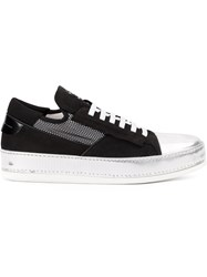 Bruno Bordese Metallic Toe Cap Sneakers Black
