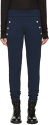 Balmain Blue And Black Overdye Lounge Pants