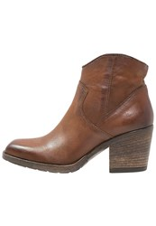Mjus Cowboy Biker Boots Dark Brown