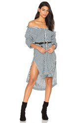 Free People Faded In The Morning Button Down Dress Black And White