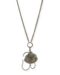 Sheryl Lowe Chain Link Necklace With Diamond Buddha And Om Charms 43