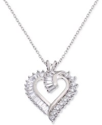 Giani Bernini Cubic Zirconia Heart Pendant Necklace In Sterling Silver Created For Macy's