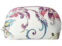 Elliott Lucca Dome Cosmetic White Wildflower Cosmetic Case Multi