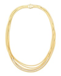 Diamond Cairo 18K Five Strand Necklace Marco Bicego Gold