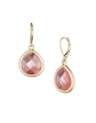 Lonna And Lilly Cherry Quartz Drop Earrings