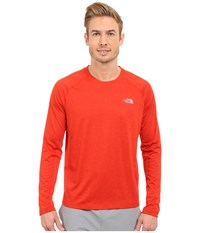 The North Face Ambition Long Sleeve Shirt Pompeian Red Heather Men's Long Sleeve Pullover