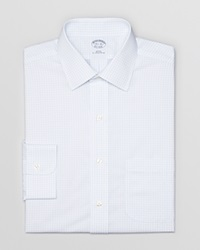 Brooks Brothers Box Check Non Iron Dress Shirt Regent Fit