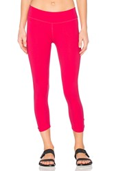 Beyond Yoga Back Bathered Capri Legging Pink