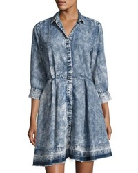 Philosophy 3 4 Sleeve Chambray Dress Blue