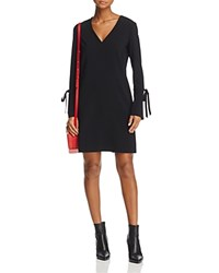 Dylan Gray Tie Detail Flare Cuff Dress Black
