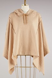 See By Chloe Cotton Poncho Jacket Camel
