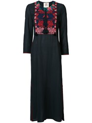 Figue Embroidered Kaftan Dress Blue