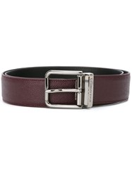Dolce And Gabbana Classic Belt Red