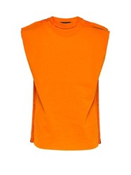 Y Project Multi Layered Cotton Tank Top Orange