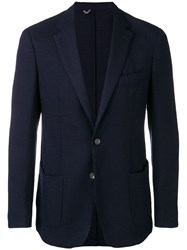 Dell'oglio Fitted Suit Jacket Blue