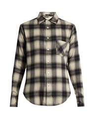 R 13 Checked Cotton Blend Flannel Shirt White Multi