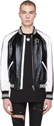 Givenchy Black Leather And Satin Bomber Jacket