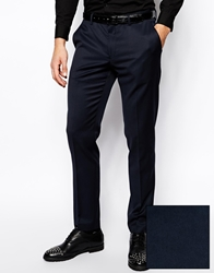 Asos Skinny Fit Tuxedo Trousers Navy