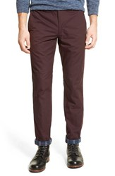 Men's Bonobos Slim Fit Flannel Lined Chinos Deep Port