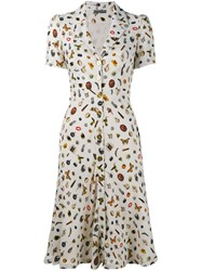 Alexander Mcqueen Obsession Print Shirt Dress Yellow And Orange