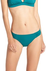 Tommy Bahama Women's Side Shirred Hipster Bikini Bottoms Tidal Teal