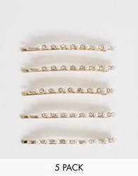 Accessorize 5 Pearl Hair Slides Multipack