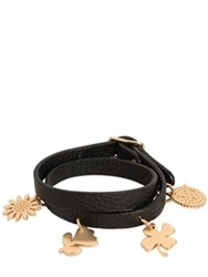 See By Chloe Leather Bracelet With Charms