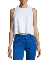 Rag And Bone Rag And Bone Evie Sleeveless Cotton Honeycomb Top White Size Large