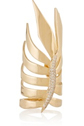 Eddie Borgo Frond Gold Plated Crystal Ring