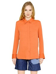 See By Chloe Pleated Techno Jacquard Shirt