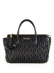 Miu Miu Matelasse Zip Tote Grey Cream Black Oxblood
