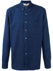 Missoni Patterned Button Down Shirt Blue