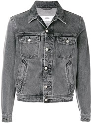 Ami Alexandre Mattiussi Denim Jacket Black